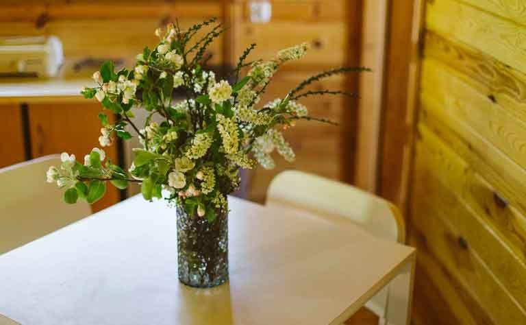 Die Natur um die Habenda-Houses laed dazu ein, das Ferienhaus am See mit einem Blumenstrauss zu schmuecken.